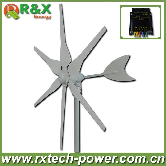 цена на Mini wind power generator 300w, horizontal axis wind generator kit 12V/24V optional+wind/solar hybrid controller