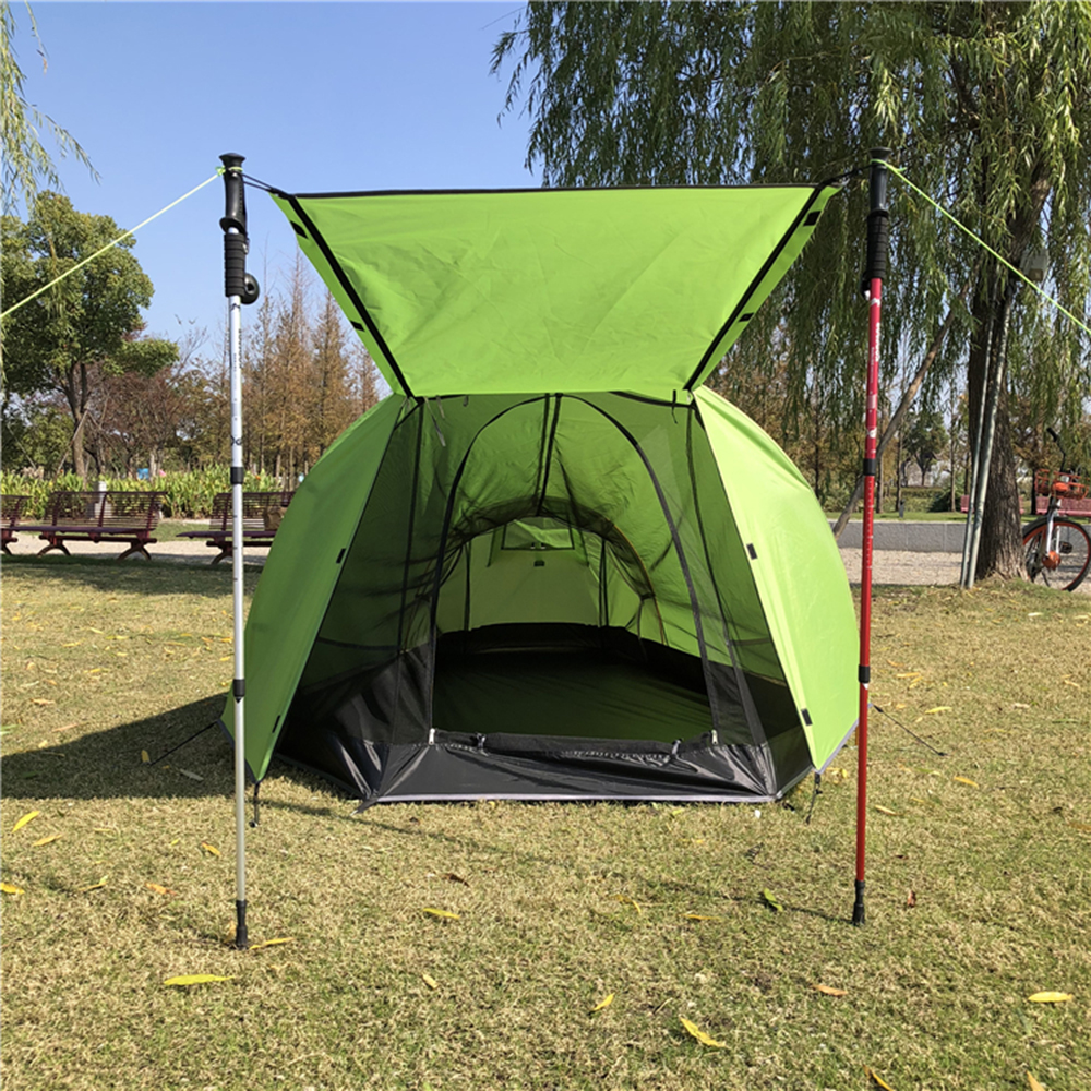 Outdoor Mosquito Repellent Mesh Tent Camping Tent with Waterproof Rain Fly Hiking Climbing Cabana Breathable Beach
