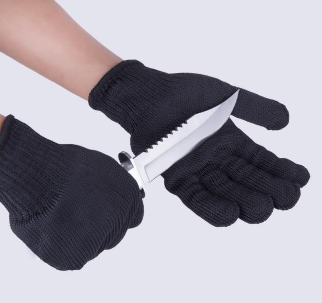 3 Pair Safety Gloves Protect Stainless Steel Wire Gloves Cut Metal Mesh Butcher Anti-cutting Breathable Work Gloves