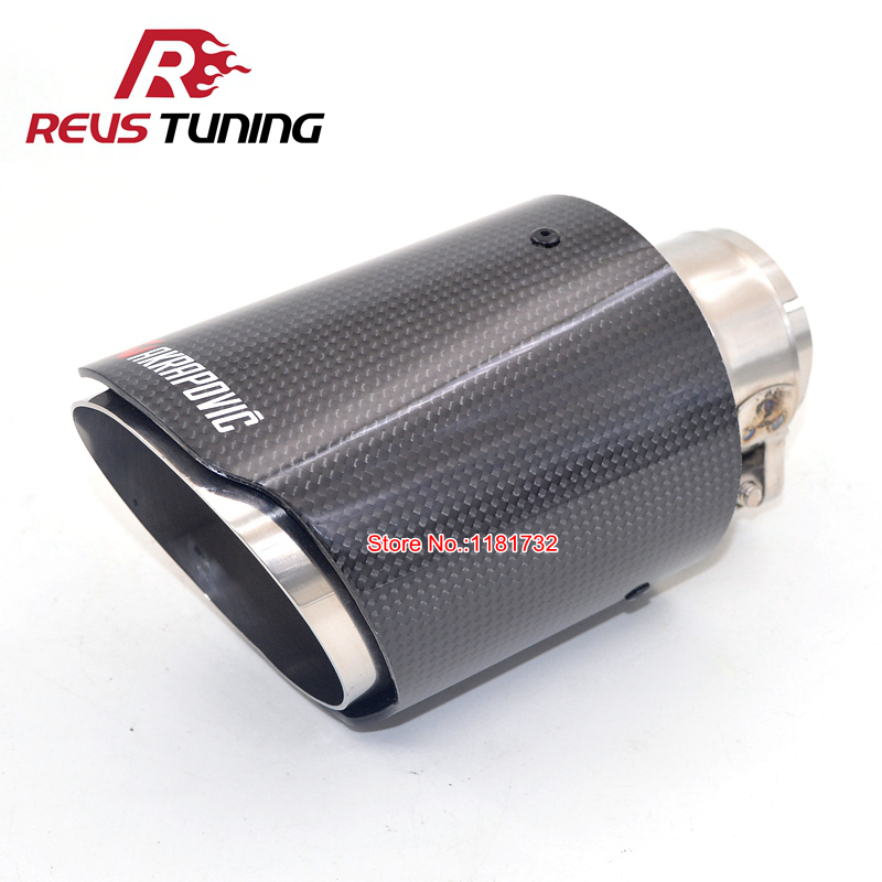 US $29 58 13% OFF|Glossy Type Inlet: 48mm 51mm 53mm 57mm 60mm 63mm Car  Exhaust Akrapovic Carbon Fiber Exhaust Tip Muffler Exhaust End Tip-in  Mufflers