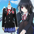 Anime Date A Live Tokisaki Kurumi / Yatogami Tohka / Tobiichi Origami Cosplay Costume Full Set School Uniform