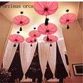 Новый китайский стиль люстра античное искусство Гостиная Ресторан горячий горшок магазин проходу ткань лотоса лампа