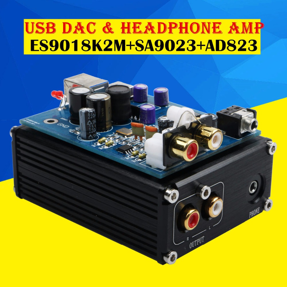 Music hall Latest Mini ES9018K2M SA9023 AD823 USB DAC Audio Decoder HiFi  Amplifier PC Sound Card
