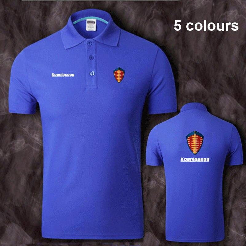 Cotton Koenigsegg logo   Polo   Shirt Mens Short Sleeve Summer Casual Solid   Polo   Shirts   Polos