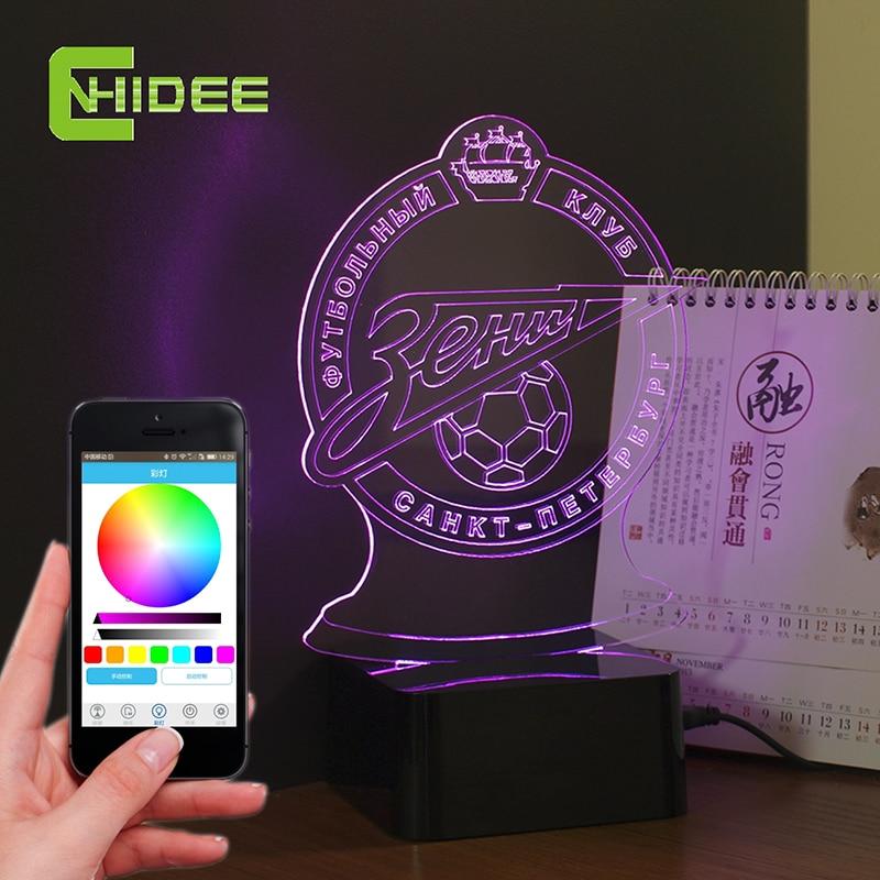 e8e3dac928bd USB Novelty Bluetooth Speaker Music Lamp LED Night Lights Lampara Futbol  for Zenit NBA Lamp Fans as Home Decor Desk Lampara 3d