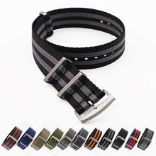 20 22mm Army Sports Nato Fabric Nylon Bands For 007 James Bond Watch Band new 10pcs 16 18 20 22 24 mm brand army sports nato fabric nylon watchband bands buckle belt for 007 james bond watch strap black
