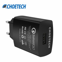 18W USB Charger QC 3.0 Wall Charger,Quick Charge 3.0 Mobile Phone Fast Charging EU Adapter for Samsung S8 for iPhone for iPad