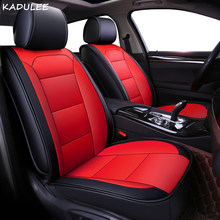 KADULEE pu leather car seat cover For vw golf 4 5 VOLKSWAGEN polo 6r 9n passat b5 b6 b7 auto accessories covers for vehicle seat(China)