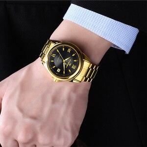 Image 2 - Montres mécaniques pour hommes marque de mode luxe Date calendrier montre bracelet homme automatique en acier montres squelette Relogio Masculino