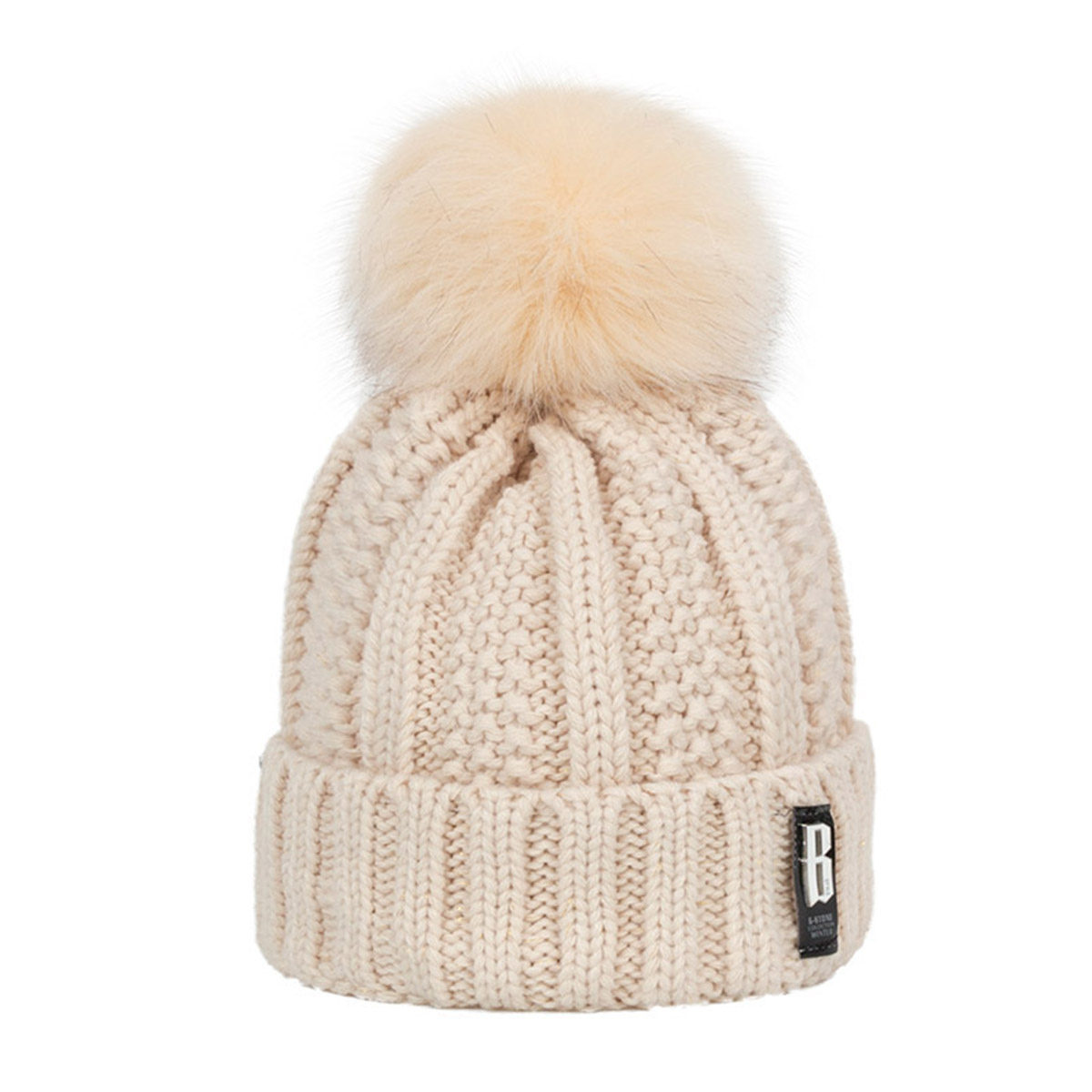 814bdd1a36e ... MLTBB 2018 Fashion Women s Winter Hat Brand Knit Warm Hat Skullies Beanies  Female Models Pom- ...