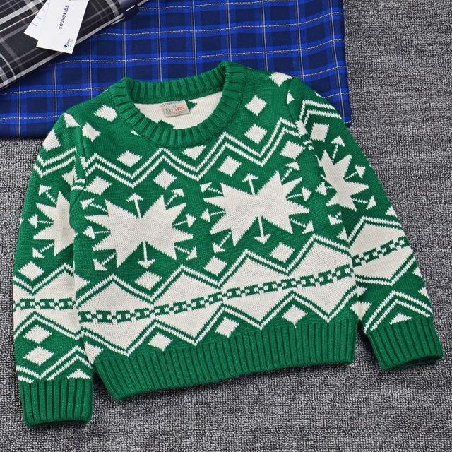 Nuevos 2016 Niños del invierno movimiento Caliente Doble Suéteres Pullover Camisas SOU-017 Caliente knitting Cardigans Tops ropa Para Niños