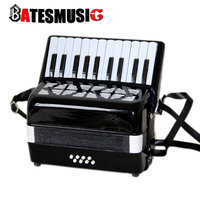 Professional accordion 8 bass22 key 8 faggot organ standard musical instruments Black