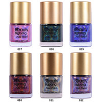 BeautyBigBang 6 bottles NEW Arrival 2018 Holographic Nail Polish Colorful Holo nailpolish nail varnish Glitter Nail Polish Set