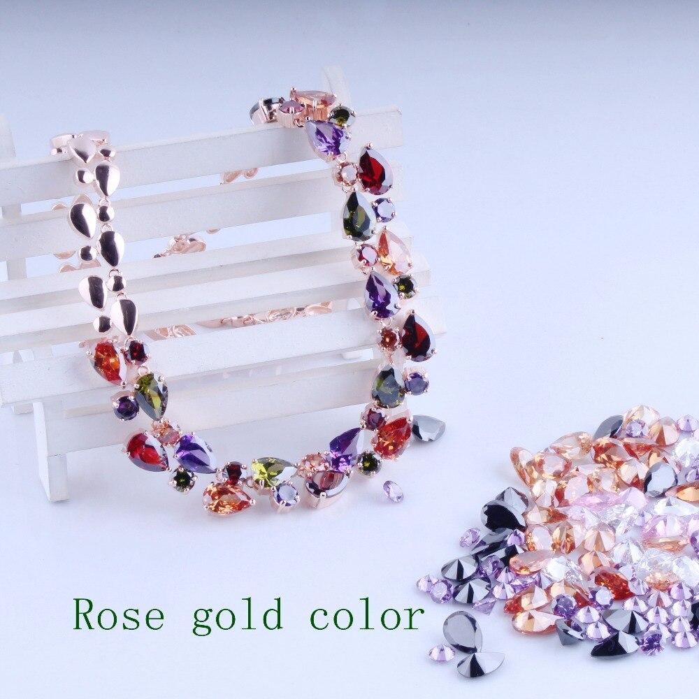 Happy timejewelry в 2017, последняя Роскошный дизайн Мона Лиза Многоцветный Циркон ожерелье цепь Оптовая ювелирные изделия