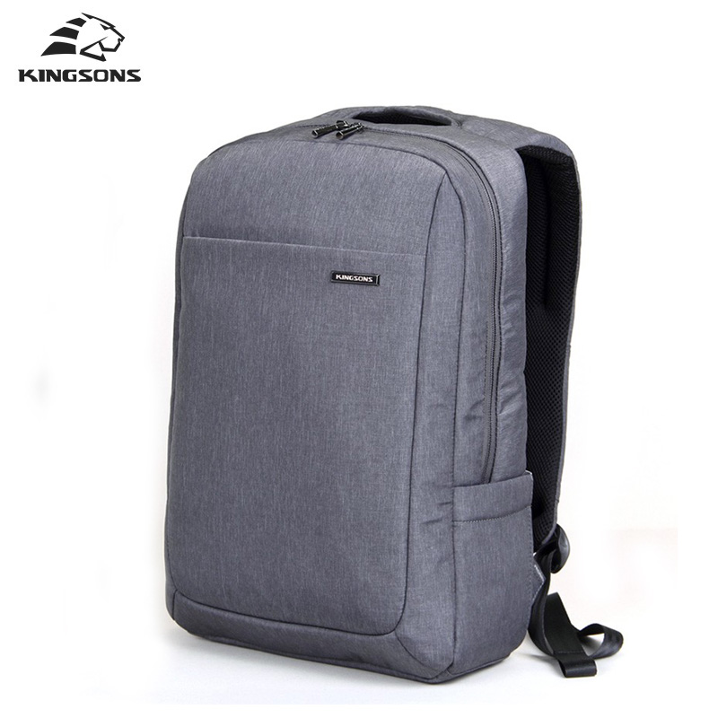 ФОТО 15.6 Laptop Notebook Backpack Work Durable Men's Travel Bag Business Knapsack Rucksack School Shoulder Bag For Teengers Gray