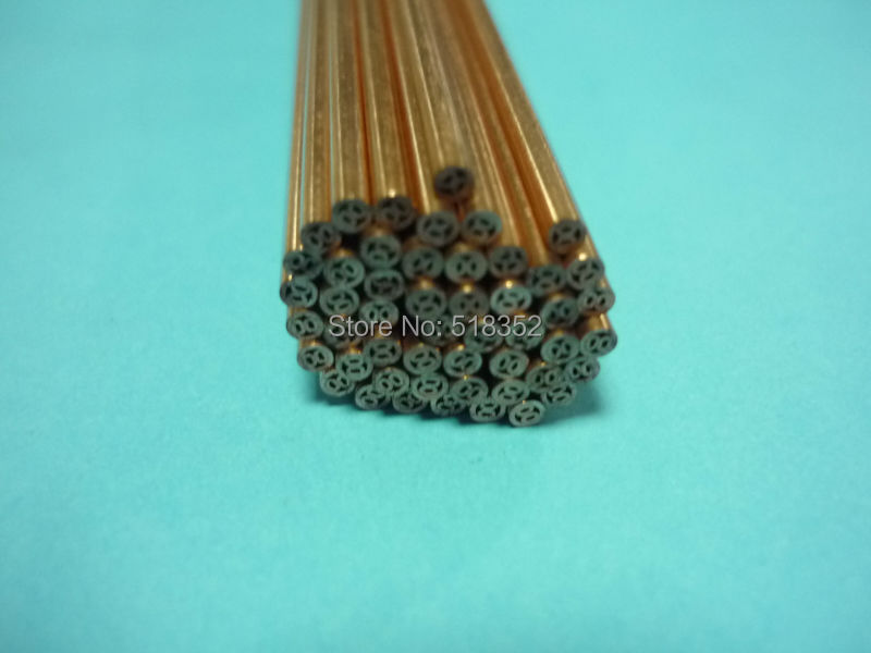 1.6mmx500mm Multihole Ziyang Copper Electrode Tube for EDM Drilling Machines