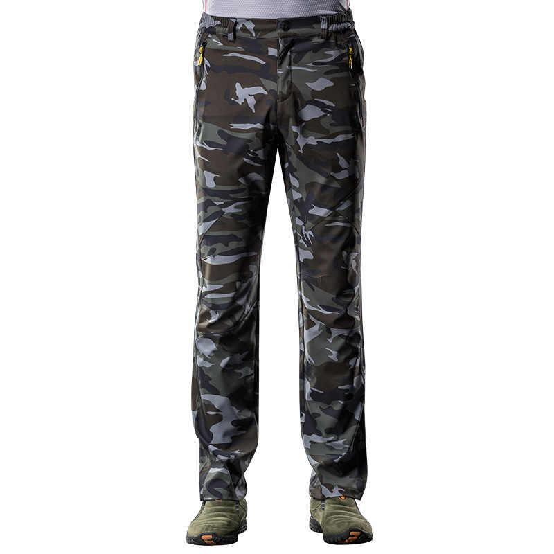 Осенне-зимние женские эластичные камуфляжные длинные брюки на открытом воздухе для мужчин и женщин быстросохнущие брюки Капри женские модные брюки