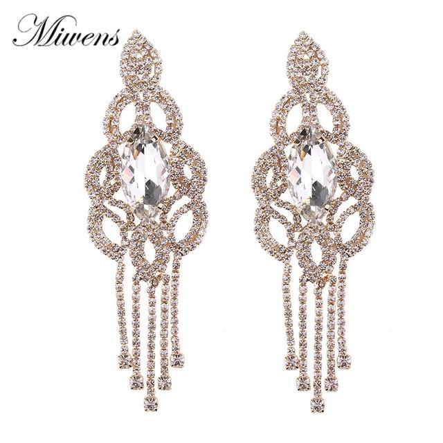 Miwens vintage style rhinestone chandelier earrings for women miwens vintage style rhinestone chandelier earrings for women fashion jewelry statement long drop earring wedding accessories aloadofball Images