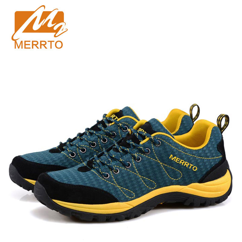 MERRTO  Man Outdoor Hiking Climbing Shoes Damping Breathable Air Mesh Tactical Boots Protect Ankle Sneaker Men Sport Shoes