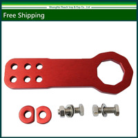 New Red Front Universal Aluminum Alloy Race Tow Hook Kit