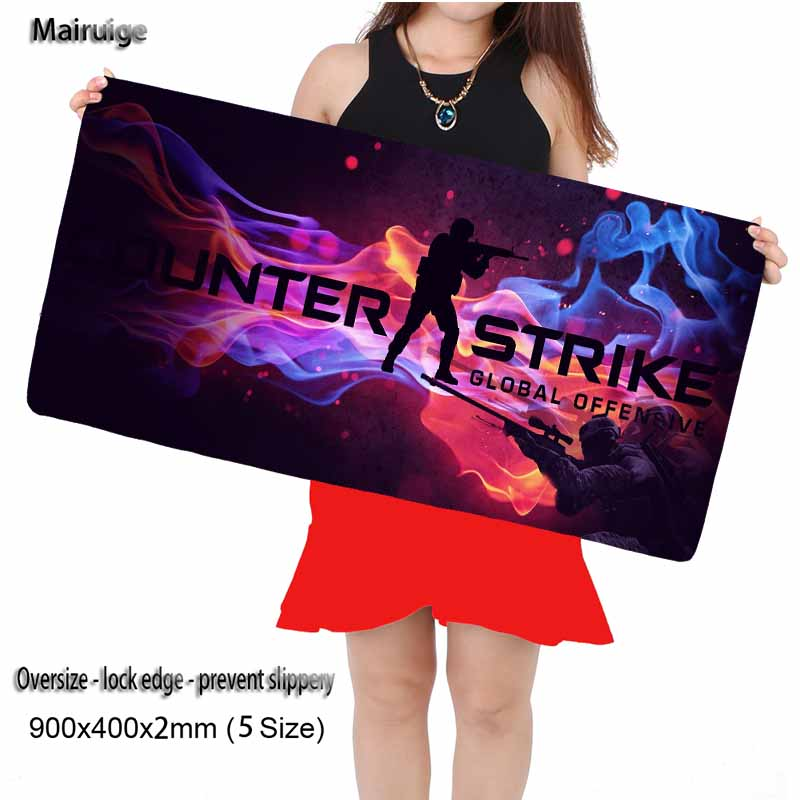 Mairuige Store CSGO Natural Rubber Mouse Pad 900 * 400mm High Quality DIY Picture & Edge Lock Dota 2 LOL