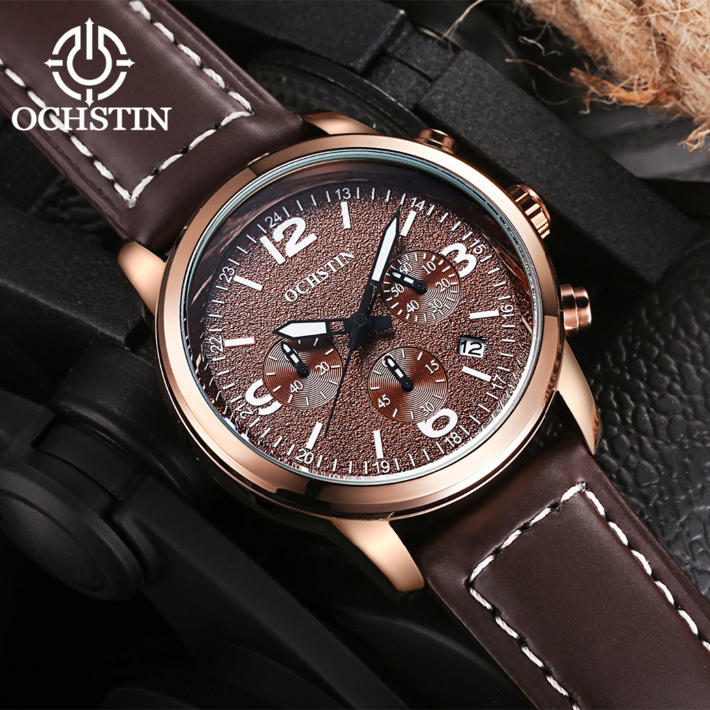 2017 Ochstin Cronógrafo Reloj Casual Hombres Marca de Lujo Deporte - Relojes para hombres - foto 6