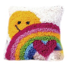 DIY Latch Hook Kits Rug Pillowcase Crocheting Cushion Carpet Canvas Rugs Mat Cartoon Sewing Needlework for Adults Kids Baby Gift