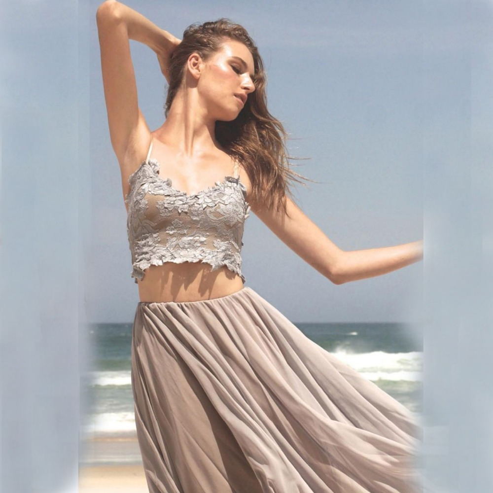 Casual Beach Wedding Dresses 2 Piece | Dress images