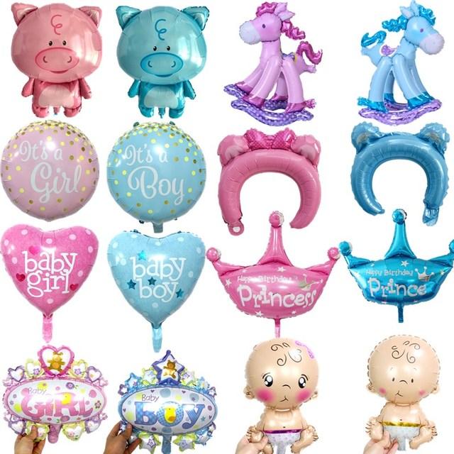1 шт розовый голубой корона шляпа лошадь 1st для маленьких девочек воздушный шар для Бэйби Шауэр покрытые фольгой шары мальчик игрушки для надувные декорации для вечеринки воздушные шары