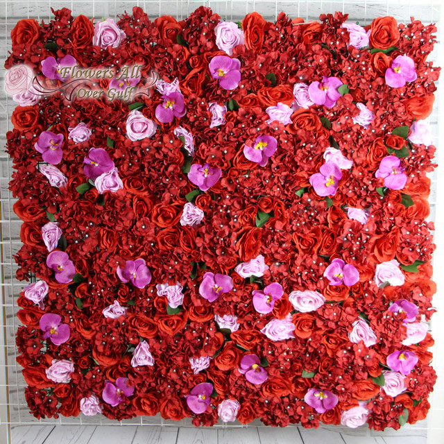 Excellent flowers all over gulf New Artificial red rose and orchid for  KB87