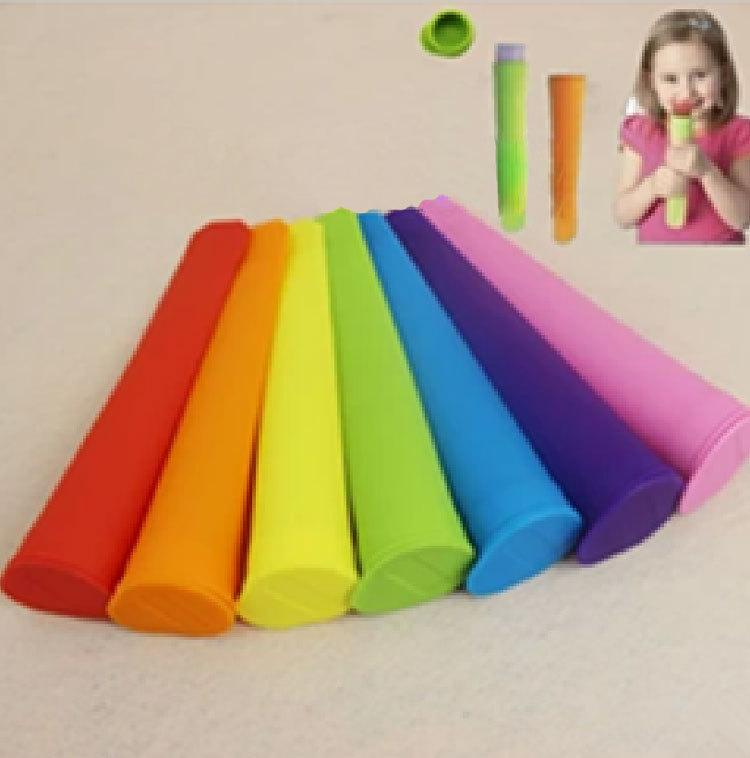 Silicone Ice Pop Mold Popsicles Mould with Lid Ice Cream Makers Push Up Ice Cream Jelly Lolly Pop For Popsicle 10pcs/lot CT091