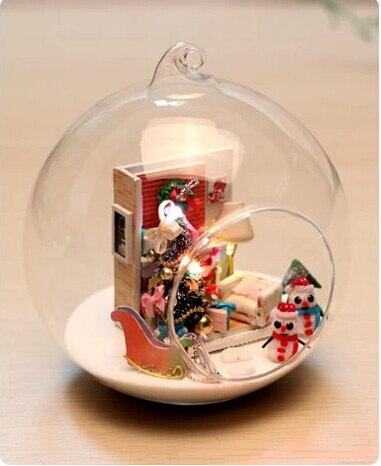 Hot Merry Christmas Gift DIY Glass Ball Doll House Model Building ...