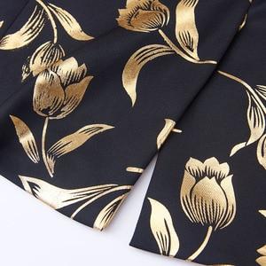 Image 5 - Pyjtrl Thời Trang Vàng Hoa Tulip Hoa Văn Cổ Áo Nam Phù Hợp Với Áo Khoác Anh Quý Ông Cưới Chú Rể Mỏng Phù Hợp Với Thời Trang Phối Trang Phục