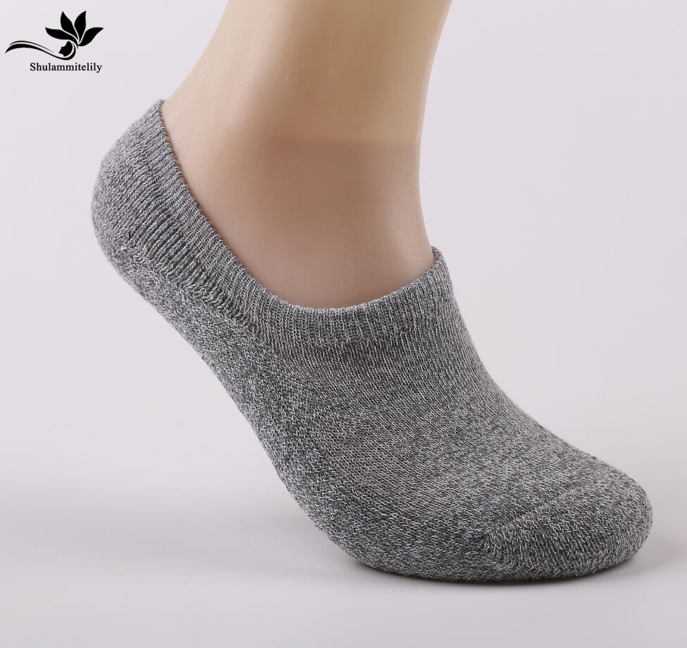 New Design High Quality Summer Thick Boat Socks Fashion Casual Men Socks Cotton Invisible Socks Non-slip Men No Show Sock 5pairs
