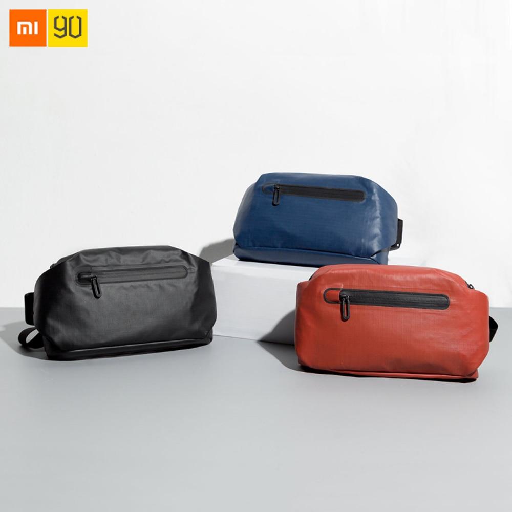 Xiaomi Mijia 90Fun Waist Bag Water Repellent Waist Packs Backpacks Warning Light Bar Design Shoulder Bag цена и фото
