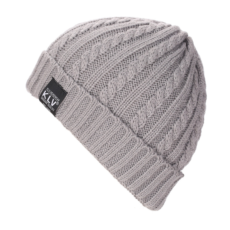 New Arrival KLV Men Women Baggy Warm Crochet Winter Wool Knit Ski Beanie Skull Slouchy Caps Hat 46cm~66cm designer winter casual cotton knit hats for women men baggy beanie hat crochet slouchy oversized ski cap warm skullies toucas gorros 448e