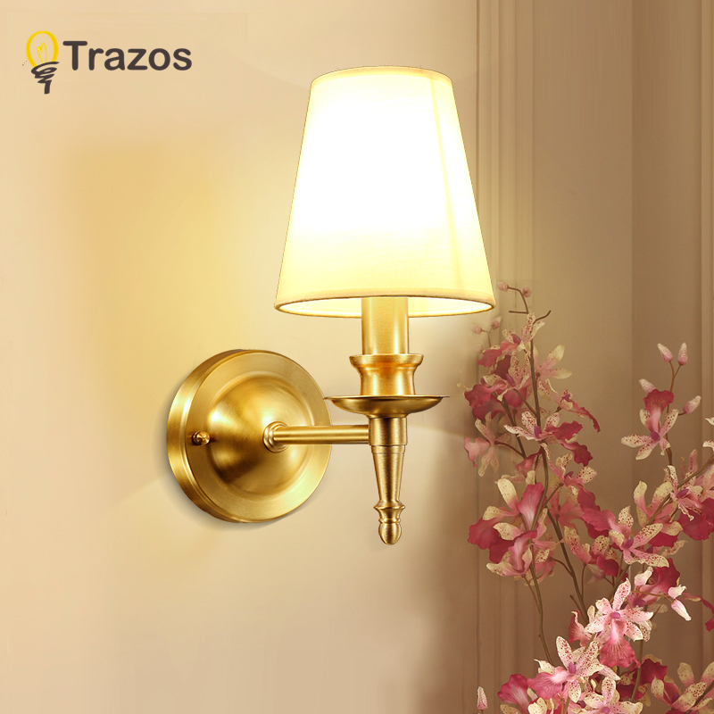 European copper wall lamp corridor aisle lights staircase lights outdoor balcony lights villa outdoor waterproof garden lights цена