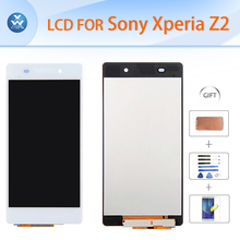 Best LCD for Sony Xperia Z2 Original LCD display touch screen digitizer glass black white 5.2″ L50W D6502 D6503 D6543+tools+film