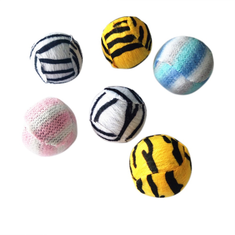 Soft and Cute Cat Toy Sound Balls Interactive Cat Rope Toys Play Chewing Rattle Scratch Rope Braided Ball Training Pet Tools