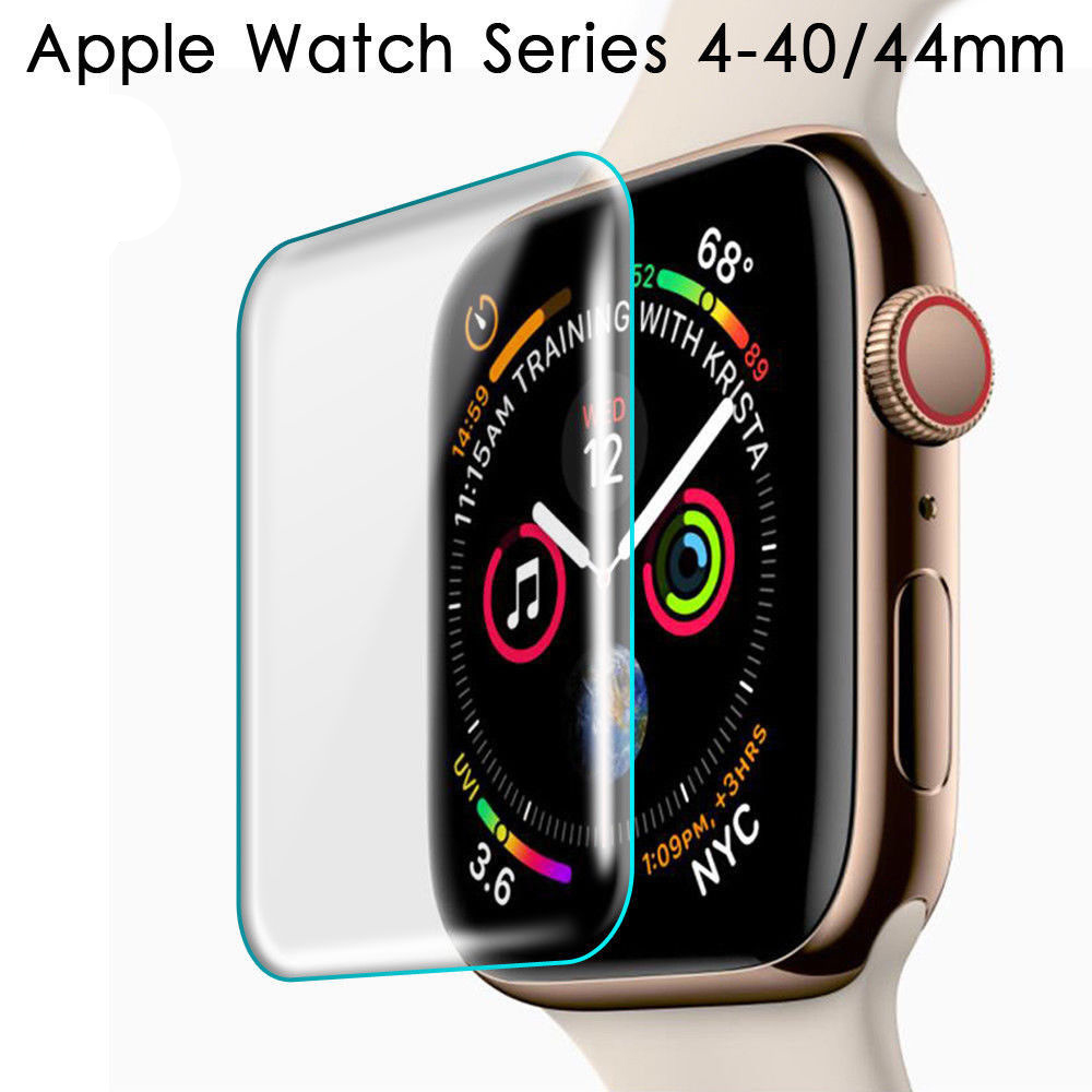 For Apple Watch 40mm 44mm 3D Full Cover Tempered Screen Protector For iWatch Series 4 full Glue Tempered Glass With packaging