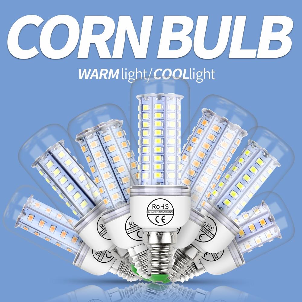 E27 LED Corn Bulb E14 LED Lamp GU10 220V Candle Lamp 2835 SMD 5730 Home Decoration Light Bulb 30 36 48 56 69 89 102leds Lampada