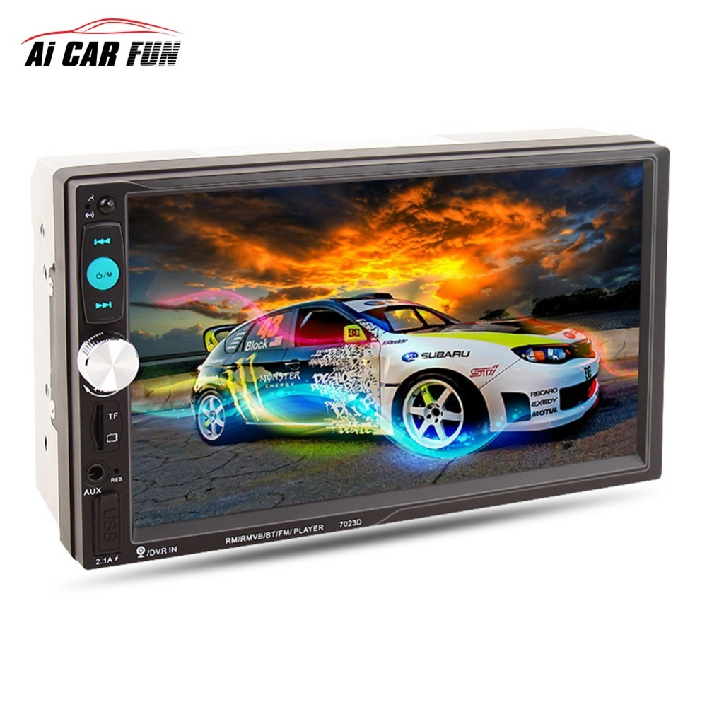 7-inch 2DIN 2017 Bluetooth Car MP5 HD Player 7023D Audio player with Card Reader Radio Car Stereo support rear view Camera 7023d 2din 7 inch bluetooth hd stereo audio mp5 card reader fast charge with rear view camera car radio player