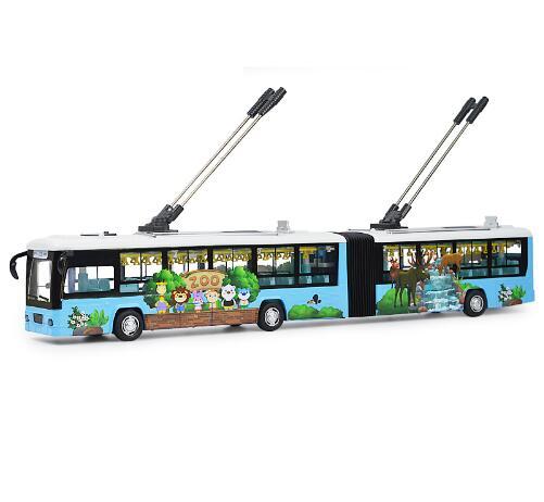 RC électrique sans rail Double-décider Tram jouets tourisme Tour Bus son et lumière tirer retour ouvrir la porte enfants jouet cadeaux