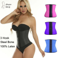 Female Steel Boned Bustier Control Corselet Sexy Latex Corset Waist Trainer Underbust Espartilhos Belly Sheath Slimming Shaper