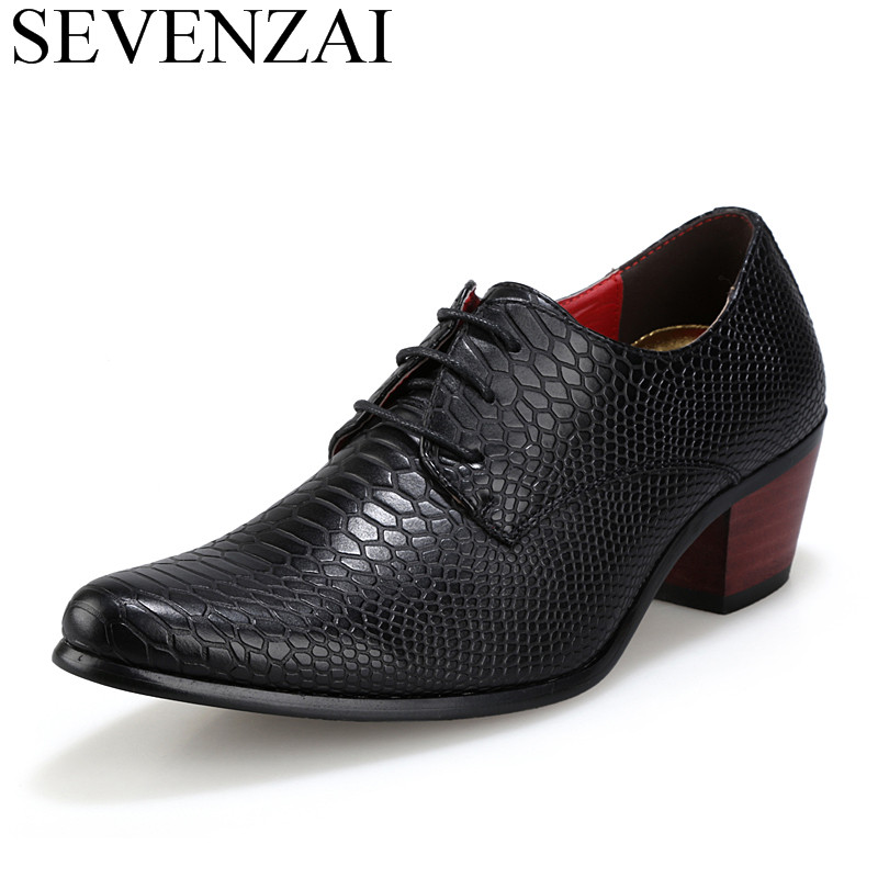 luxury brand  british men's leather shoes fashion man pointe toe high heel casual unique studded crocodile oxford shoes for men fashion young man red casual shoes men luxury high top toe mens falts british trend flat heel men s loafers shoes