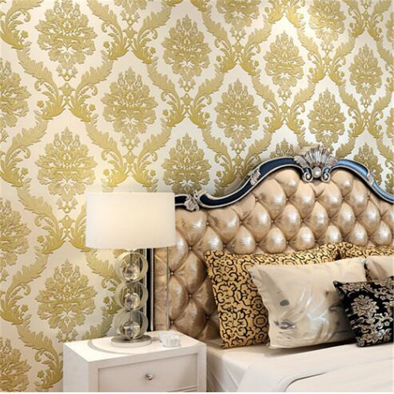 beibehang foam Damascus 3D stereoscopic wallpaper European TV background papel de parede Living room full of wall paper beibehang papel de parede 3d stereo fine simple european style bedroom living room tv background wall full of wallpaper