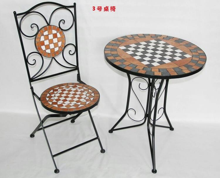 Tavoli da giardino in ferro battuto e mosaico cheap arredo giardino mobili e complementi - Tavoli da giardino in ferro battuto e mosaico ...