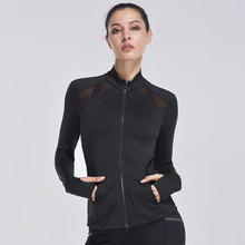 Women's Running Jackets Zipper Long Sleeve Yoga Tops Gym Fitness Tracksuits Quick-Dry Breathable Outdoor Sports Coat Sportswear
