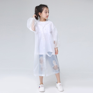 Image 3 - Keconutbear Fashion EVA Children Raincoat Thickened Waterproof Rain Coat Kids Clear Transparent Tour Waterproof Rainwear Suit