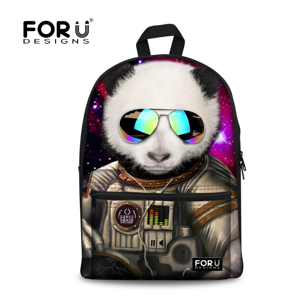 Trendy Fashion Children School Bag Cute Animal Panda Leopard Printing School Bag for Teenager Girls Women Travel Backbag Mochila
